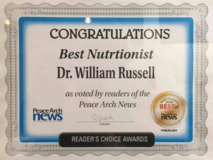 Voted Best Nutritionist Peace Arch News