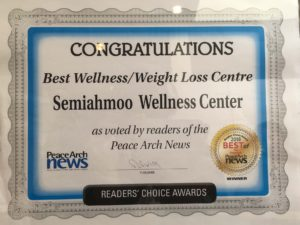 Voted Best Wellness/Weightloss Centre Peace Arch News